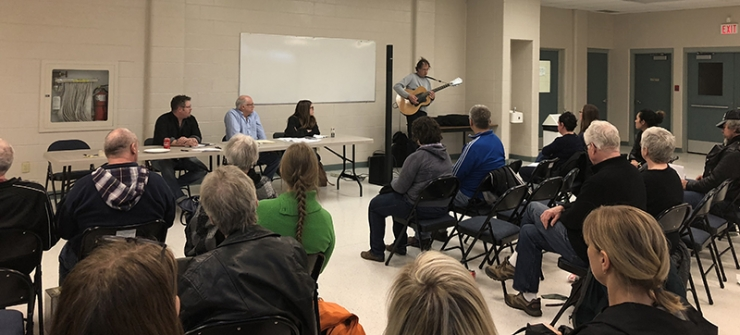 Steven Johnson performing at the McCauley Community League AGM. Janis Irwin